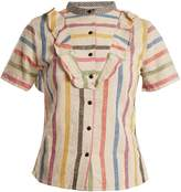 Ace&Jig Fiona ruffle-trimmed striped cotton blouse