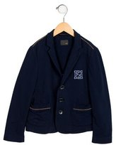 Fendi Girls' Zucca Collared Blazer