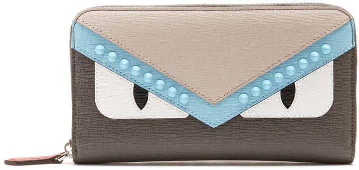 Fendi Bag Bugs zip-around leather wallet