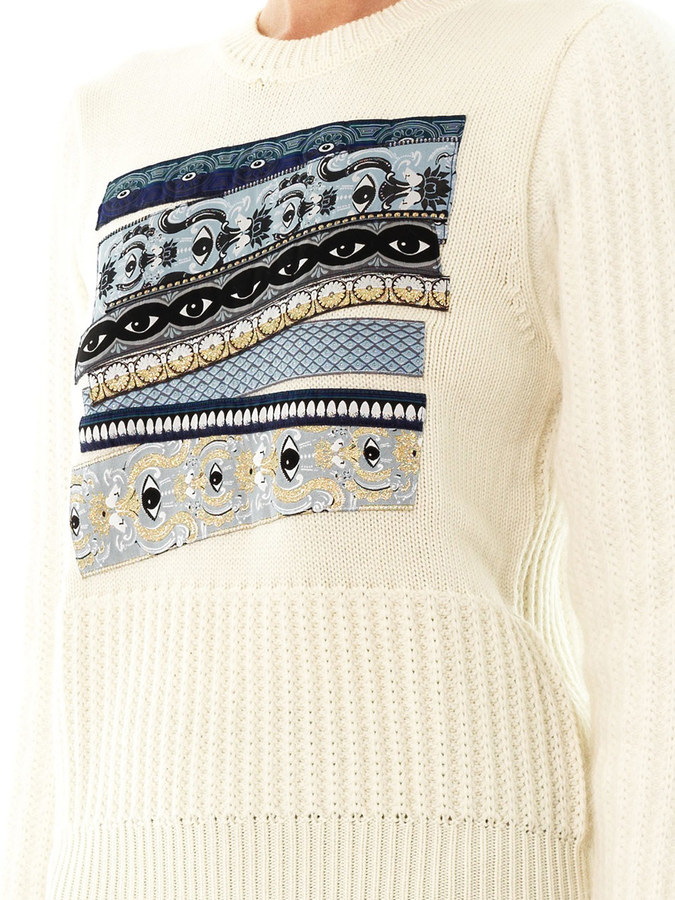 Kenzo Temple-eye embroidered sweater
