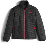 The North Face ThermoBallTM Full-Zip Puffer Jacket, Black/Red, Size XXS-XL