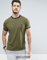 Jack Wills Baildon Ringer T-Shirt in Khaki