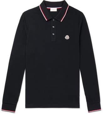 Moncler Slim-Fit Logo-Appliqued Cotton-Pique Polo Shirt