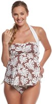 Pez D'or Maternity La Mer Palm Leaf Halter Tankini Two Piece 8131934