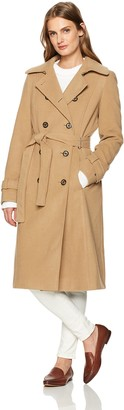 Tommy Hilfiger Women's Wool Blend Long Belted Military Coat