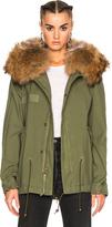 Mr & Mrs Italy Mini Parka Jacket With Raccoon Fur
