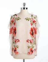 BUFFALO DAVID BITTON Trystan Floral Print Kimono-Sleeved Top