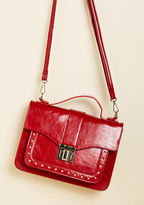 ModCloth Tell Me About It, Studs Handbag in Red
