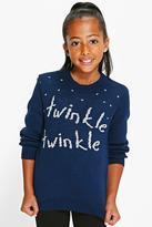 Boohoo Girls Twinkle Twinkle Christmas Jumpers
