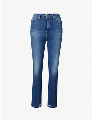 Frame Le Sylvie Crop slim-fit high-rise organic denim jeans