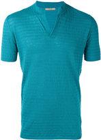 Nuur slit neck T-shirt - men - Cotton/Linen/Flax - 48