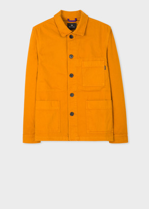Paul Smith Men's Orange Organic Cotton Chore Jacket