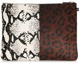NewbarK Double Animal Print Medium Pouch