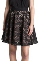 Bianca Spender Black Circle Burnout Lacrosse Skirt