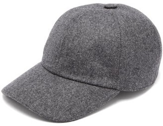 Brunello Cucinelli Panelled Wool Baseball Cap - Mens - Grey