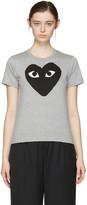 Comme des Garcons Grey Big Heart T-shirt
