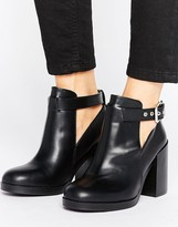 Pull&Bear Cut Out Heeled Ankle Boot