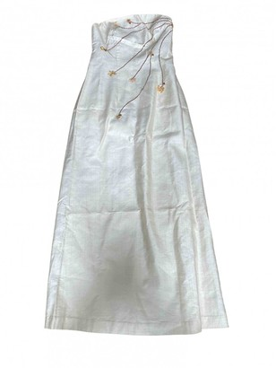 Non Signã© / Unsigned Epaulettes White Linen Dresses