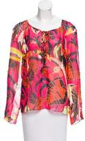 Givenchy Printed Long Sleeve Blouse
