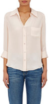 L'Agence Women's Ryan Silk Chiffon Blouse-PEACH, LIGHT PINK