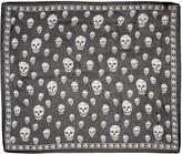 Alexander McQueen Black Silk Skull Scarf