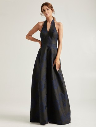 Halston Jacquard Gown