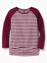 Old Navy Plush Sweater-Knit Baseball-Style Tunic for Girls