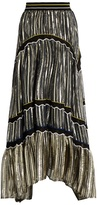 Peter Pilotto Tiered embroidered chiffon maxi skirt