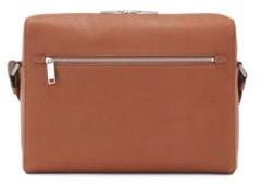HUGO BOSS Messenger bag in grained Italian leather