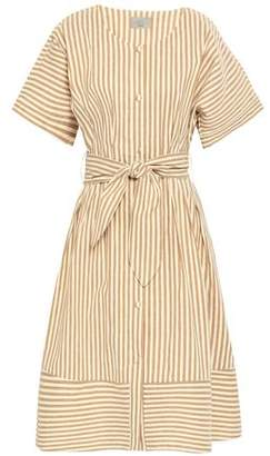Jason Wu Grey Tie-front Striped Poplin Shirt Dress