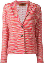 Missoni woven zig zag blazer - women - Cotton/Viscose - 44