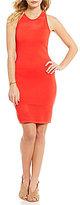 MICHAEL Michael Kors Mesh Stitch Trim Fine Gauge Knit Tank Dress