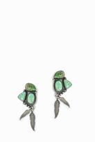 JESSIE WESTERN Emerald Green Feather Earrings