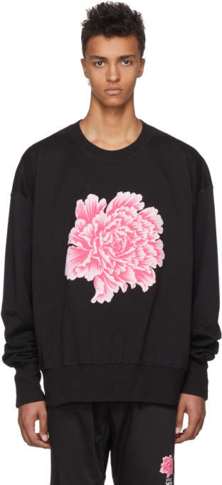 Y-3 Black James Harden Graphic Crew Sweatshirt