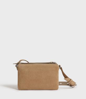AllSaints Ziggy Suede Zip Crossbody Bag