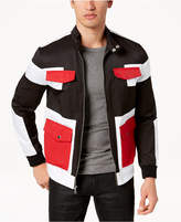 INC International Concepts I.N.C. Men's Colorblocked Full-Zip Bomber Jacket, Created for Macy's