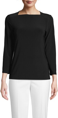 Anne Klein Boat Neck Top