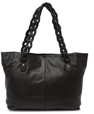 TMRW STUDIO Milan Leather Woven Strap Tote Bag