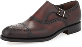 Bergdorf Goodman Hand-Antiqued Single Monk Strap Loafer