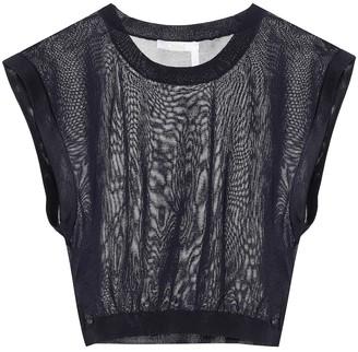 Chloé Sleeveless knit crop top