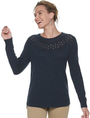 Sonoma Goods For Life Women's Pointelle Yoke Sweater
