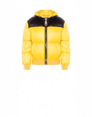 Moschino Nylon Down Jacket With Logo