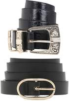 boohoo Kate Oval Buckle Skinny Belt