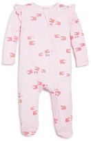 Angel Dear Infant Girls' Sheep Print Ruffle Footie - Sizes 0-12 Months