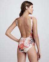 Jean Paul Gaultier Floral-Print Basic One-Piece Swimsuit
