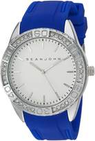 Sean John Men's 'Personal And Up Close' Quartz Metal and Alloy Automatic Watch, Color:Blue (Model: 10029416)