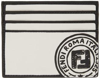 Fendi Black and White Joshua Vides Edition Card Holder