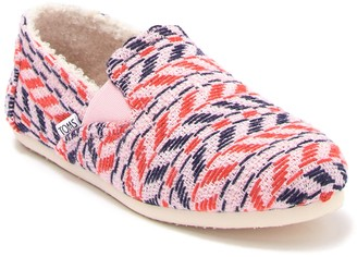 Toms Redondo Knit & Faux Shearling Sneaker