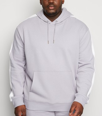 New Look Plus Size Side Stripe Hoodie