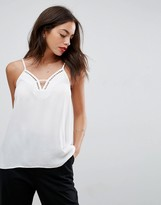 Asos Cut Out Plunge Neck Cami Top